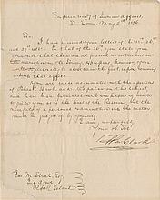 Clark, William. Letter signed (