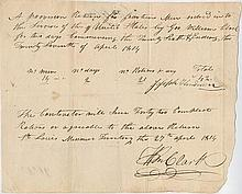 Clark, William. Document signed (