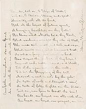 Longfellow, Henry Wadsworth. Autograph manuscript poem signed (