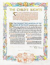Churchill, Winston / Dwight D. Eisenhower / Bernard L. Montgomery. Illuminated manuscript document.