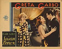 Greta Garbo lobby card for Susan Lenox.