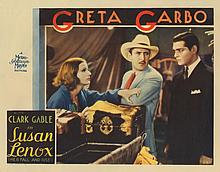 Greta Garbo (2) lobby cards for Susan Lenox.