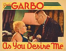 Greta Garbo lobby card for As You Desire Me.