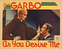Greta Garbo (3) lobby cards for As You Desire Me.