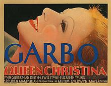 Greta Garbo title-lobby card for Queen Christina.
