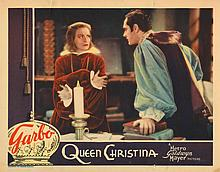 Greta Garbo (3) lobby cards for Queen Christina.