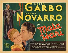 Greta Garbo title-lobby card for Mata Hari.