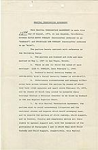 Elvis and Priscilla Presley 1972 Marital Termination Agreement signed by both.