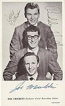 Buddy Holly and The Crickets signed publicity photograph.