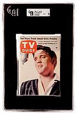 Vintage Elvis Presley TV Guide.