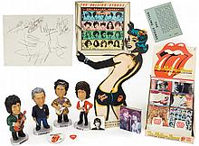 Collection of Rolling Stones memorabilia and autographs.