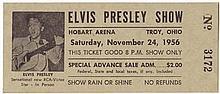 1956 unused Elvis Presley concert ticket and souvenir program.