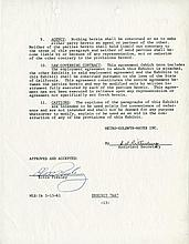 Elvis Presley signed movie contract page.