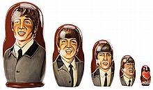 The Beatles hand painted Russian nesting dolls.