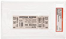 1966 Suffolk Downs Beatles unused ticket.