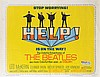 Half-sheet poster for Help! starring The Beatles.