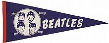 Vintage Beatles pennant.