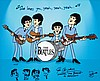 The Beatles animation cel inscribed and signed by director Ron Campbell.