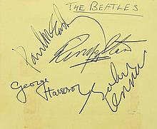 Autograph book signed by Rock & Roll and sports personalities including The Beatles, The Searchers and others.