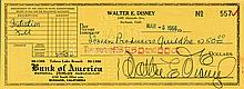 Walt Disney signed check.