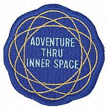 """Adventure Thru Inner Space"" cast member costume patch."