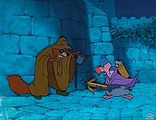Original production cels and production background from Robin Hood.
