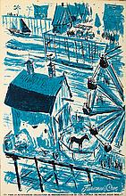 """""""Fisherman's Cove"""" Pacific Ocean Park attraction poster."""
