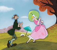 Original production cels and background from The Adventures of Ichabod and Mr. Toad.