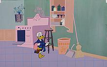 Production cel and background from How to Have an Accident at Home.