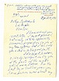 Getty, Jean Paul. Autograph letter signed