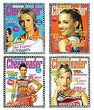 """American Cheerleader"" (4) framed magazine props."
