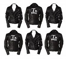 "(7) Grease ""T-Birds"" leather jackets worn by the cast."
