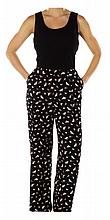 """""""Brittany"""" pheasant print pants ensemble."""