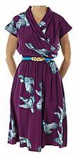 Quinn (Played by Dianna Agron) pheasant print dress.