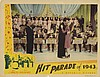 Large vintage general interest (125+) lobby card collection with titles beginning with