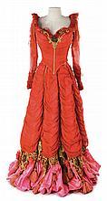 Debbie Reynolds / Elaine Stewart red period dress designed by Helen Rose made for I Love Melvin.