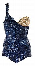Esther Williams blue sequined bathing suit designed by Helen Rose made for Deep in My Heart.