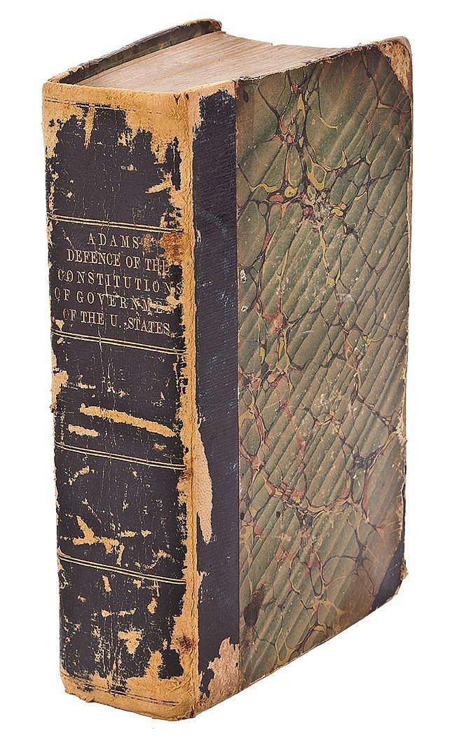 Adams, John. Book signed (8 ¼ x 5 in.; 210 x 127 mm.)
