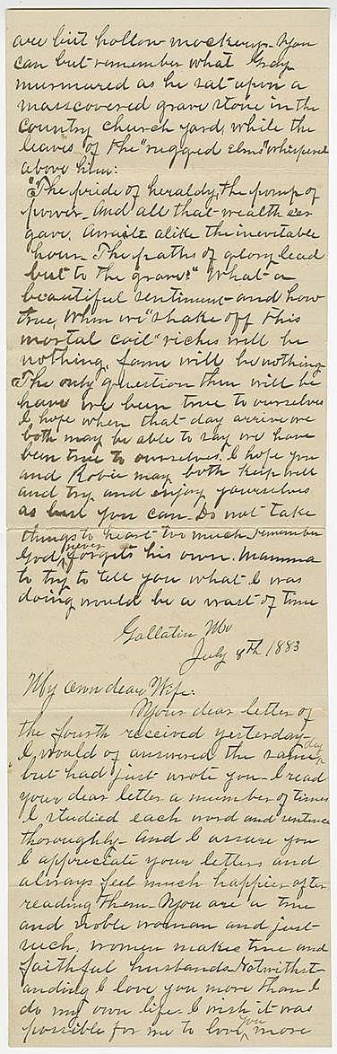 James, Frank. Fine autograph letter signed (