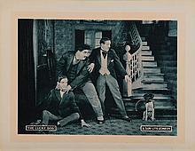 Laurel and Hardy 1st screen appearance lobby card from The Lucky Dog.