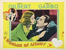 Greta Garbo (6) lobby cards from A Woman of Affairs.