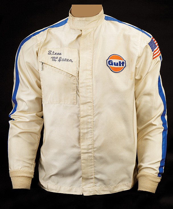 Steve McQueen Gulf racing jacket worn during production and promotion of Le Mans.