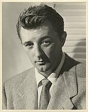 Oversize Robert Mitchum double-weight portrait by Ernest Bachrach.