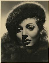 Collection of (5) oversize custom portraits of Loretta Young (1) by Otto Dyar.
