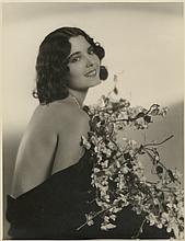 Oversize custom portrait of Lupita Tovar.