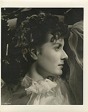 Collection of (3) oversize portraits of Maureen O'Hara from This Land is Mine by Ernest A. Bachrach.
