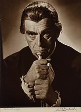 Collection of (3) oversize exhibition portraits of Boris Karloff from Bedlam by Ernest A. Bachrach.