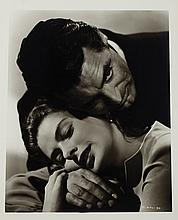 (2) oversize portraits of Ingrid Bergman and Cary Grant from Notorious by Ernest A. Bachrach.