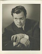 Collection of (2) oversize portraits of Orson Wells from Citizen Kane by Ernest A. Bachrach.