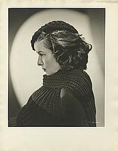 Collection of 2 oversize portraits of Katharine Hepburn from Mary of Scotland by Ernest A. Bachrach.